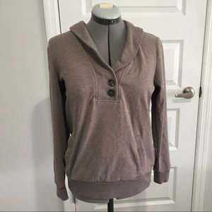 Banana republic button sweatshirt size M